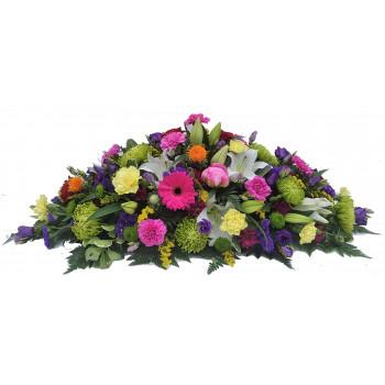 Florists Choice Vibrant double ended casket spray