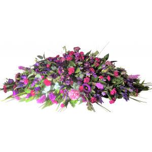 Florist Choice Purple Casket Spray