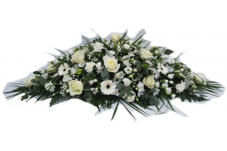 Florists Choice White double ended casket spray