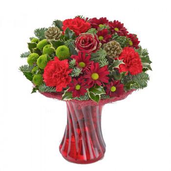 Festive Christmas Vase