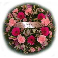 Classic Wreath - Cerise and Pink