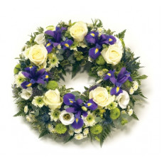 Wreath - Blue & Lemon