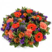 Wreath - Orange & Purple