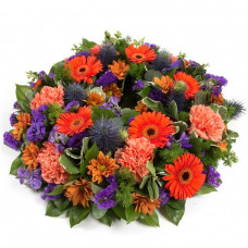 Wreath - Orange & Purple