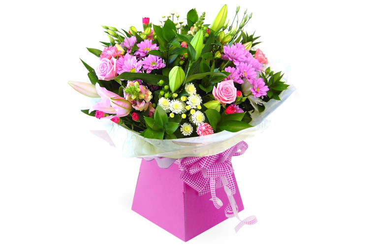 Bold Pinks Hand-tied Bouquet