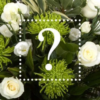 Florists Choice-White Mixed Hand-tied Bouquet