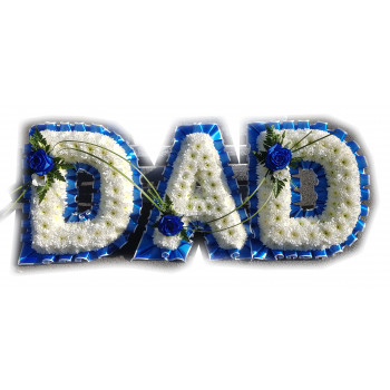 Dad Tribute - Everton blue and white
