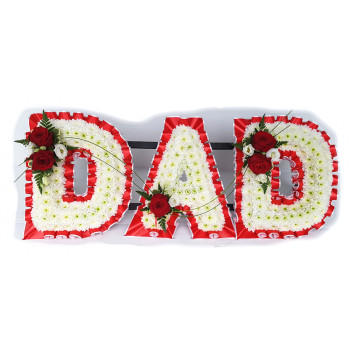 Dad Tribute- red and white