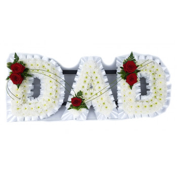Dad Tribute- White and Red