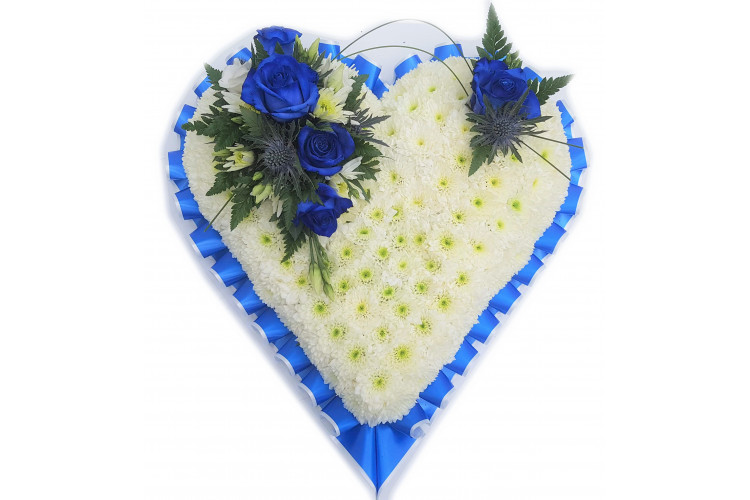 Blue and White Massed Heart