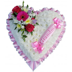 Pink and White Massed Heart