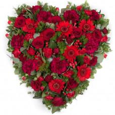 Open Design Heart - red