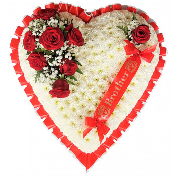 Red and White Massed Heart