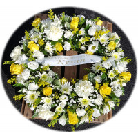 Open Wreath -Yellow and Cream