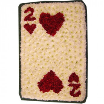 Two of Hearts Playing Card