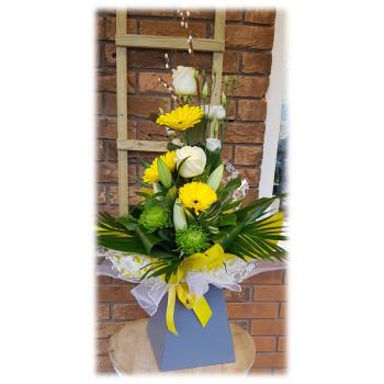 Yellow Gerbera Modern Hand-tied Bouquet